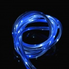 Micro USB Male to USB 2.0 Male Data Sync / Charging LED Visible Cable w/ Double light -White (100cm)