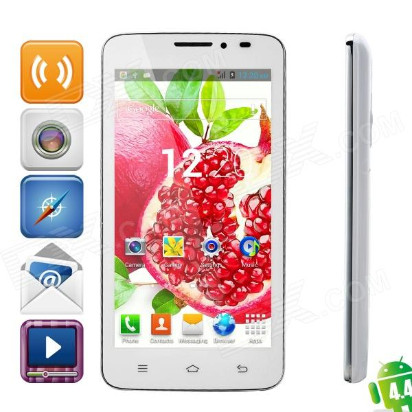 "G2 Dual-core Android 4.4 WCDMA Bar Phone w/ 5.0"", GPS, Wi-Fi, 512MB RAM, 4GB ROM - White"