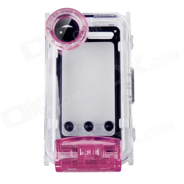 WP-i5 40M Diving Waterproof Photo Protective Case for IPHONE 5 / 5S / 5C - PurpleWaterproof Cases<br>Form  ColorPurpleModelWP-i5Quantity1 DX.PCM.Model.AttributeModel.UnitMaterialPlasticShade Of ColorPurpleCompatible ModelsIPHONE 5S,IPHONE 5C,IPHONE 5DesignSolid Color,Transparent,With StrapStyleFull Body CasesOther FeaturesDiving Depth: 40M<br>Waterproof level: IPX8<br>Shockproof Height: 1M<br>Support dustproof and heat-resistant<br>Specifically designed for underwater photo taking with iPhone 5Packing List1 x Waterproof Case1 x Grease2 x Front Spacers1 x Side Speacers1 x Hang Strap (28cm)1 x English &amp; Chinese user manual<br>