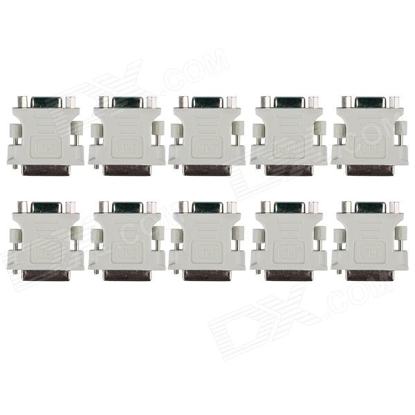 DVI 24+1 Male to VGA Female Adapter - White (10PCS)AV Adapters And Converters<br>Form ColorWhite + GoldenModelCM01MaterialPC + copperQuantity10 DX.PCM.Model.AttributeModel.UnitShade Of ColorWhiteConnectorVGA,DVIPacking List10 x DVI 24+1 Male to VGA Female Adapter<br>