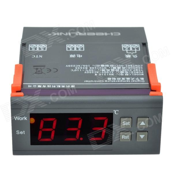 "CHEERLINK MH1210W 3W 1.7"" Screen Intelligent Digital Temperature Controller - Black (AC 90~250V)"