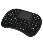 Rii RT-MWK08 Mini USB 2.0 92-Key Touch Keyboard w/ Air Mouse - Black