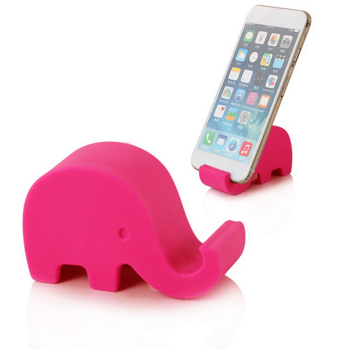 Elephant Style Stand Holder for Samsung Galaxy S5 / Phone - Deep PinkMounts &amp; Holders<br>Form ColorDeep PinkBrandN/AModelI9600MaterialSiliconeQuantity1 DX.PCM.Model.AttributeModel.UnitMount TypeDesktopCompatible ModelsSamsung Galaxy S5Compatible Size(inch)14.2 x 7.2 x 0.8cmOther FeaturesAllows you to conveniently watch videos anytime and anywhere.Packing List1 x Elephant Cell Phone Stand Holder<br>