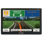 "0.63cm Thin 7"" HD Screen 800MHz 256MB DDR3 Car GPS Navigation System w/ FM / 8GB European Map"