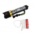WaLangTing 1-LED 500lm 3-Mode White Tactical Flashlight - Grey (1 x 18650 / 1 x 26650)