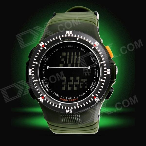 SKMEI 0989 50m Waterproof Electronic Movement Sports Wrist Watch - Black (1 x CR2025)
