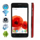 "CUBOT BOBBY Dual-Core Android 4.2 WCDMA Bar Phone w/ 5.0"" Screen, Wi-Fi, GPS - Red"