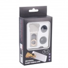 Cat Clip 3-in-1 Fisheye + 0.67X Wide-Angle + Macro Lens for IPHONE / IPAD / Cellphone - Black