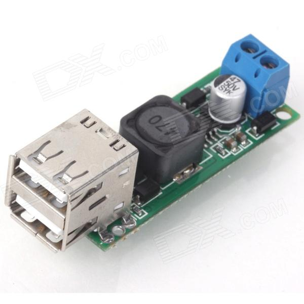 ZnDiy-BRY DC 6~35V to 5V Dual USB Voltage Step Down Regulator Module