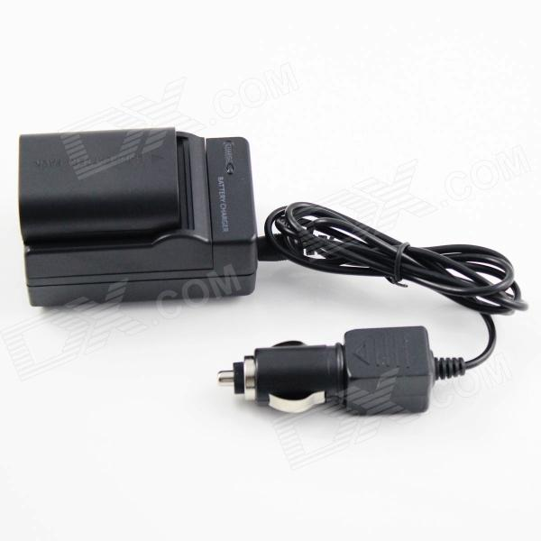 Full-Decoded LP-E6 Battery + Charger for Canon 5D Mark II III 7D 60D - (US Plug / Car Charger)