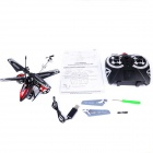 M302 4-Channels Avatar King Flying Side R/C Helicopters - Red + Black