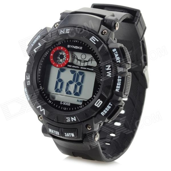 SYNOKE Multi-Function Water Resistant Rubber Band Digital Sport Watch for Men (1 x LR1130)