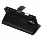Protective Flip Open PU + PC Stand Case w/ Card Slot / Holder for Samsung Galaxy S5 - Black