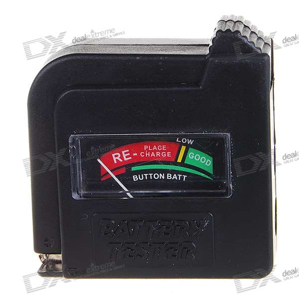 Mini Analog Battery Power Level Tester - Black