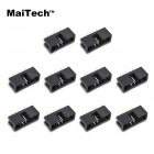 MaiTech DC3 - 10p 2,54 MM Pitch rame aghi - nero (10 pz)