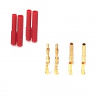 ZnDiy-BRY DIY 3.5mm / 4.0mm Plated Banana Plugs Connectors for Fixed Wing R/C Airplane - Golden