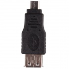 CM01 Micro USB Muž na USB Female Adapter - Black (10 ks)