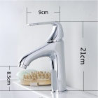 Contemporary Centerset Chrome Finish Bathroom Sink Faucets