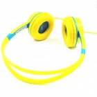 OYK OK-403 Wired Headband Children's Music Headphones with Volume Control - Blue + Yellow
