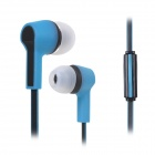 S-What Stylish 4-CH 3.5mm Jack Wired In-Ear Stereo Earphone w/ Mic. - Black + Blue