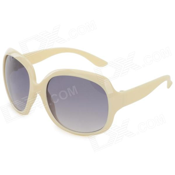 Oulaiou Ladies' UV400 Protection Cellulose Acetate Frame PC Lens Sunglasses - Beige + Brown