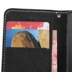 PU Leather Wallet Stand Design Case for IPHONE 5 / 5S - Black