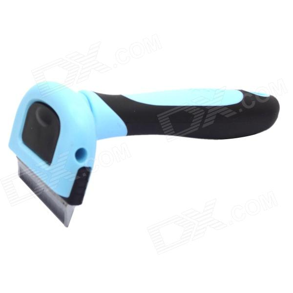 Buy Dele Metal Blade Short Tiny Hair Shedding Grooming Comb Brush with Litecoins with Free Shipping on Gipsybee.com