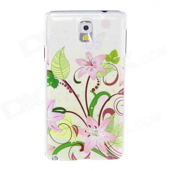 Kinston Flowers Lead Butterfly Pattern Plastic Hard Case for Samsung Galaxy Note 3 - Pink + GreenPlastic Cases<br>Form  ColorPink + Green + Multi-ColoredBrandKinstonModelKST01687MaterialPlasticQuantity1 DX.PCM.Model.AttributeModel.UnitShade Of ColorMulti-colorCompatible ModelsSamsung Galaxy Note 3Packing List1 x Case<br>
