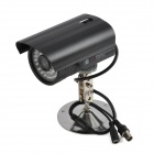 "1/4"" 1030 CCD 420TVL 3.6mm Lens Waterproof Wired CCTV Camera w/ 35-IR-LED / PAL - Black"