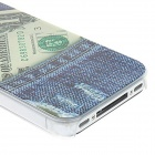 Kinston Greenback in Blue Jeans modello PC progettato opaco custodia rigida per IPHONE 4 / 4S