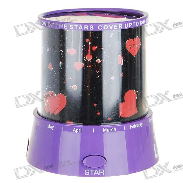 AC/3*AA Powered Star Master Mini Star Projector (Pink)