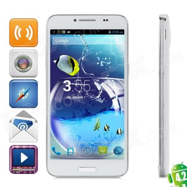 "Landvo L800S Android 4.2.2 Quad-core WCDMA Smart Phone w/ 5.0"" QHD IPS, Wi-Fi and GPS - White"