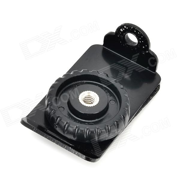 Plastic + Aluminum Alloy Camera Connection Buckle Base for Quick Strap - Black