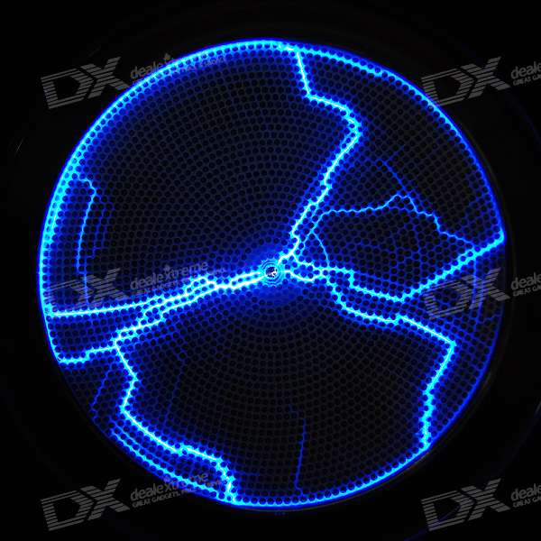 USB/4*AA Powered Sound Activated Blue Light Plasma Lamp