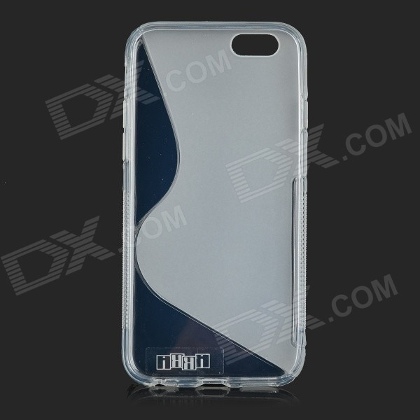IKKI S Shaped Protective TPU Back Case for 4.7'' IPHONE 6 - Translucent White