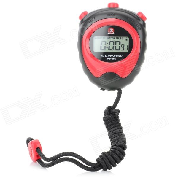 Buy ZR 1380 3cm Sports Stopwatch / Chronograph w/ Neck Loop for Running - Black + Red (1 x L1154) with Litecoins with Free Shipping on Gipsybee.com