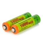 BestFire Rechargeable 1.2V 1400mAh Ni-MH AA Battery - Green (2PCS)