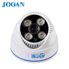"JOOAN JA-573KRB-T 1/3"" CMOS HD 1080TVL 4 Dot Array Lamp Wide Angle CCTV Camera / Hemisphere Camera"