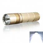 KINFIRE F-12 LED 630lm White Light 5-mode Flashlight - Golden (1 x 18650 or 26650)