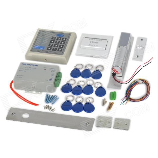 ST204 Single Door Access Controller Kits w / Elektronik / Sperrcode Keyfobs - Silbrig Grau