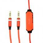 AL001 POWER4 3.5mm maschio-maschio illuminazione auricolari Audio per auto / cellulari - Orange (105cm)