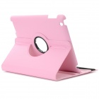 lichee mønster beskyttende PU + PC full body case w / stå for iPad 2/3/4 - rosa
