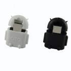 HF-Android Micro USB Male to USB 2.0 Female OTG Adapters - Black + White (2 PCS)