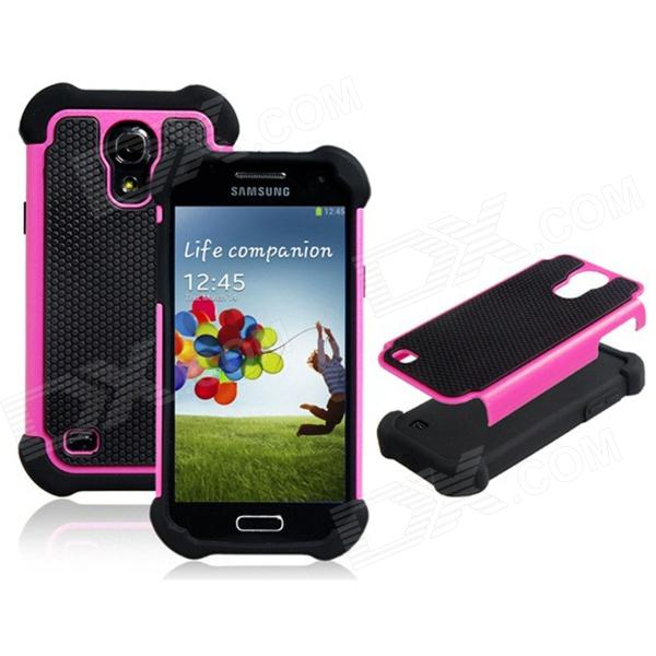 2-in-1 Protective Plastic + TPU Back Case for Samsung Galaxy S4 Mini i9190 - Deep Pink + Black / Green + Black