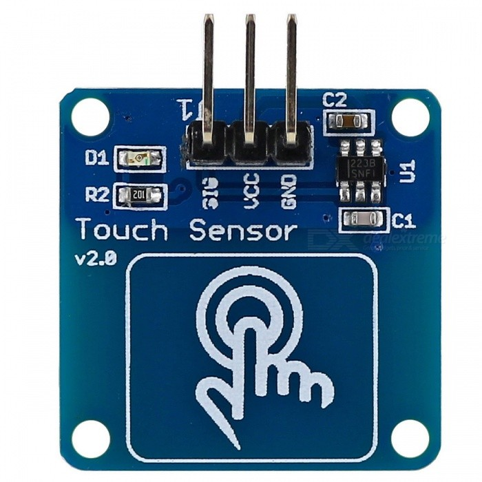 Digital Capacitive Touch Sensor Switch Module for Arduino - Blue + Golden
