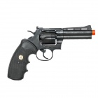 "Crown Model Colt Python 4"" 357 Revolver Airsoft Gun-Black"