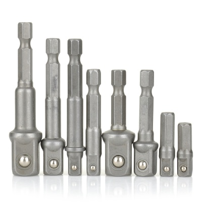 HF-979005 Hex to Square Screwdriver / Drill Sleeve Adapter Set (8PCS)
