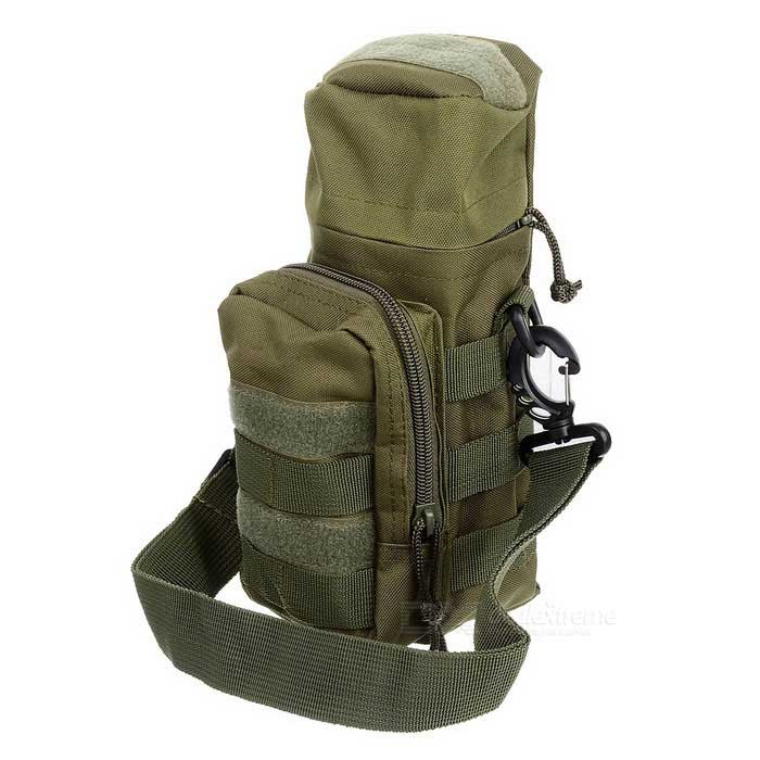 Outdoor Sports 600D Oxford Nylon Water Bottle Bag - Army Green/Khaki/Black