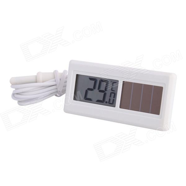 Thermometer | Digital | Outdoor | Solar | Power | White