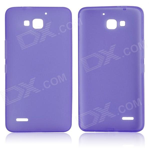 DF-002 Protective TPU Case w/ Anti-dust Plugs for Huawei Honor 3X G750 - Purple